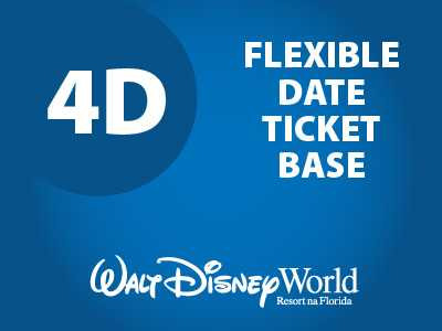 Ingresso Disney Básico Flexível - 4 Dias